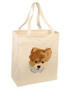 Custom Pet Art Large Grocery Tote Bag-Natural by TooLoud