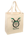 Taurus Symbol Large Grocery Tote Bag