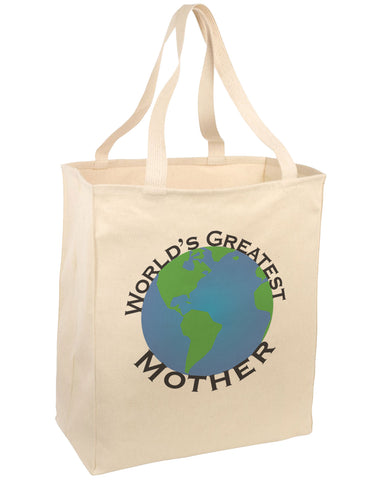 World's Greatest Mother Large Grocery Tote Bag