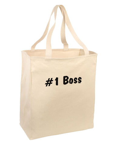 #1 Boss Text - Boss Day Large Grocery Tote Bag