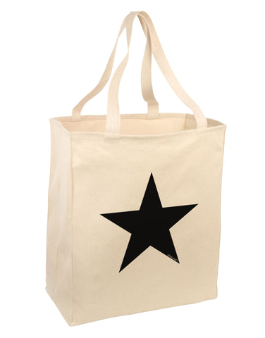 TooLoud Black Star Large Grocery Tote Bag