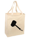Thors Hammer Nordic Runes Lucky Odin Mjolnir Valhalla  Large Grocery Tote Bag-Natural by TooLoud