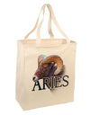 Majestic Aries Picture Large Grocery Tote Bag-Natural