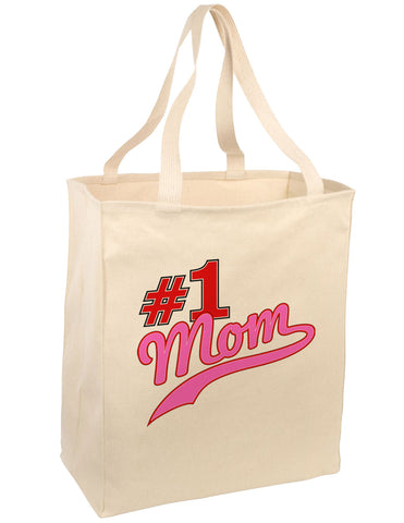 #1 Mom Large Grocery Tote Bag