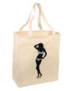 Stripes Bikini Shadow Large Grocery Tote Bag by TooLoud