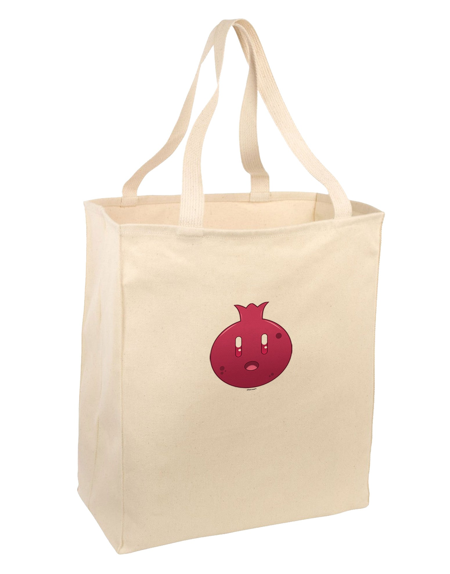 Cute Pomegranate Large Grocery Tote Bag