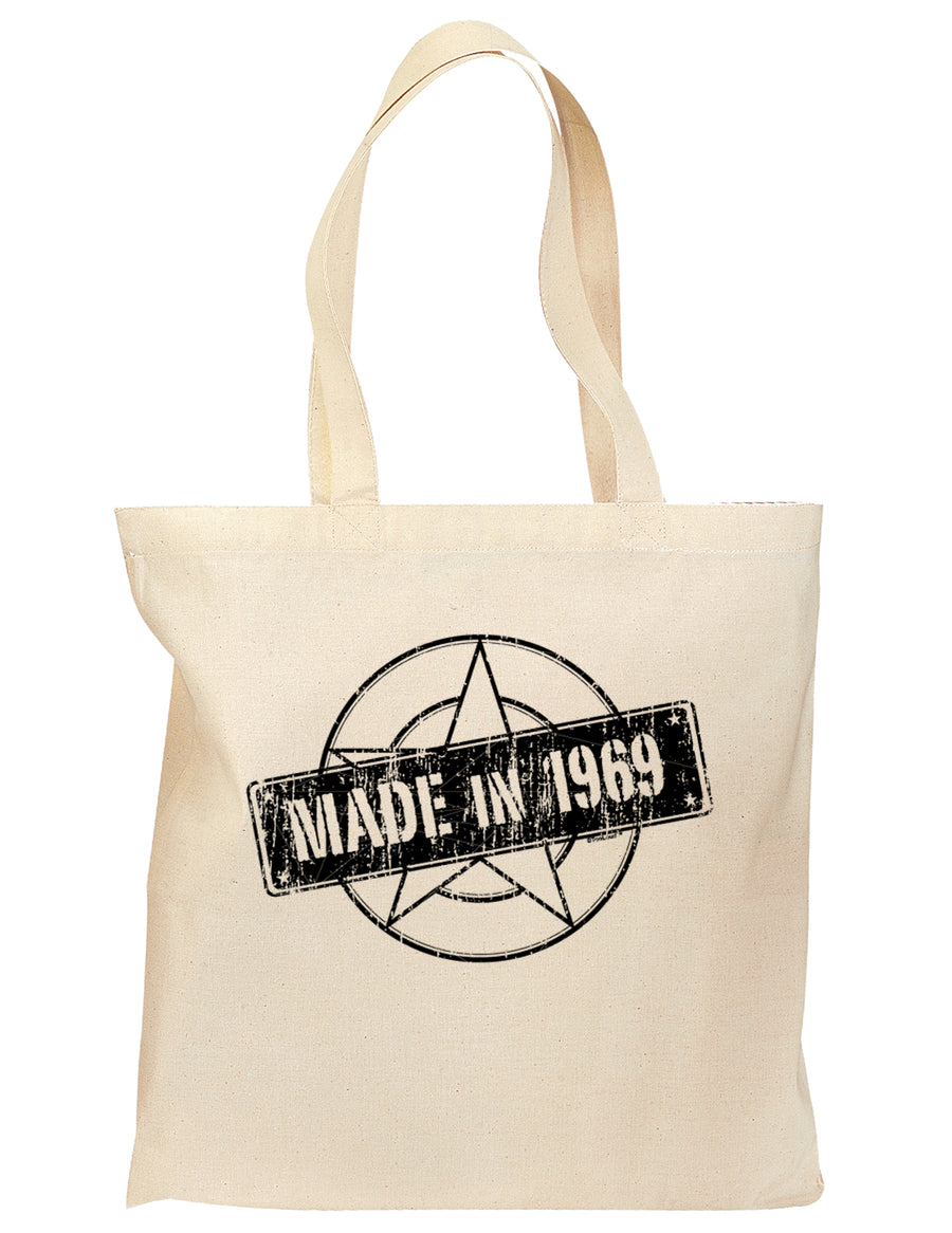50th Birthday Gift Made in 1969 Grocery Tote Bag - Natural by TooLoud