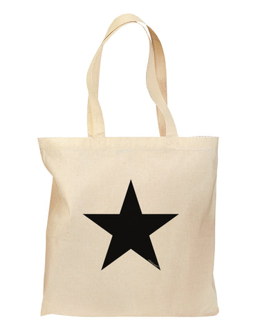 TooLoud Black Star Grocery Tote Bag