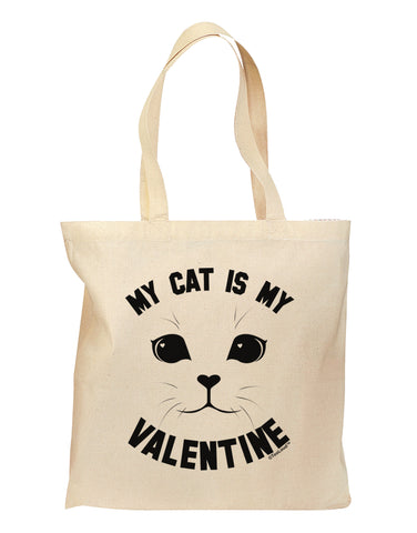 My Cat is my Valentine Grocery Tote Bag by TooLoud