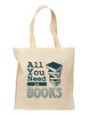 All You Need Is Books Grocery Tote Bag - Natural