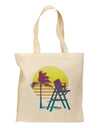 LA Beach Silhouette Letters Grocery Tote Bag - Natural