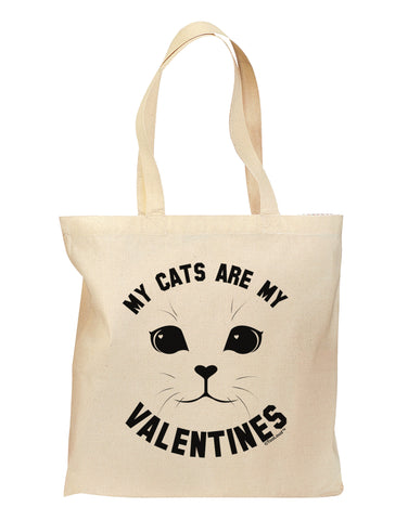 My Cats are my Valentines Grocery Tote Bag by TooLoud