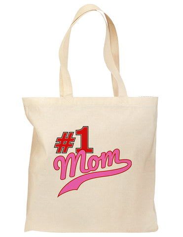 #1 Mom Grocery Tote Bag