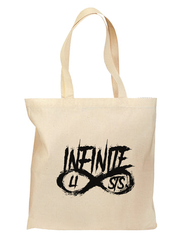 Infinite Lists Grocery Tote Bag - Natural by TooLoud