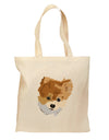 Custom Pet Art Grocery Tote Bag - Natural by TooLoud