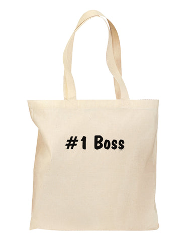 #1 Boss Text - Boss Day Grocery Tote Bag