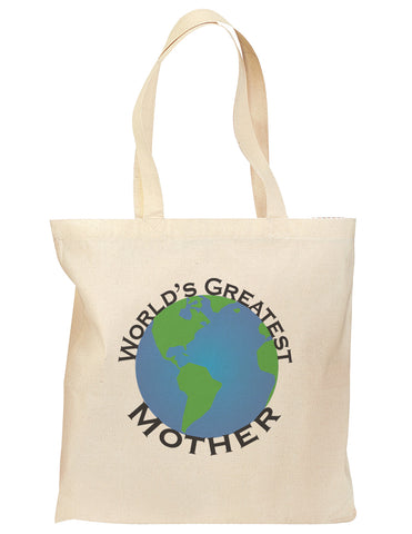 World's Greatest Mother Grocery Tote Bag