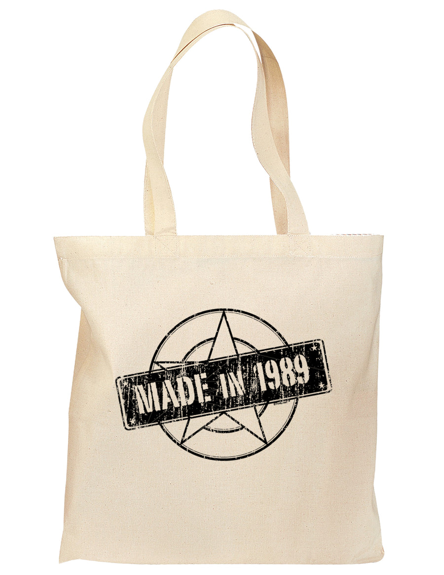 30th Birthday Gift Made in 1989 Grocery Tote Bag - Natural by TooLoud