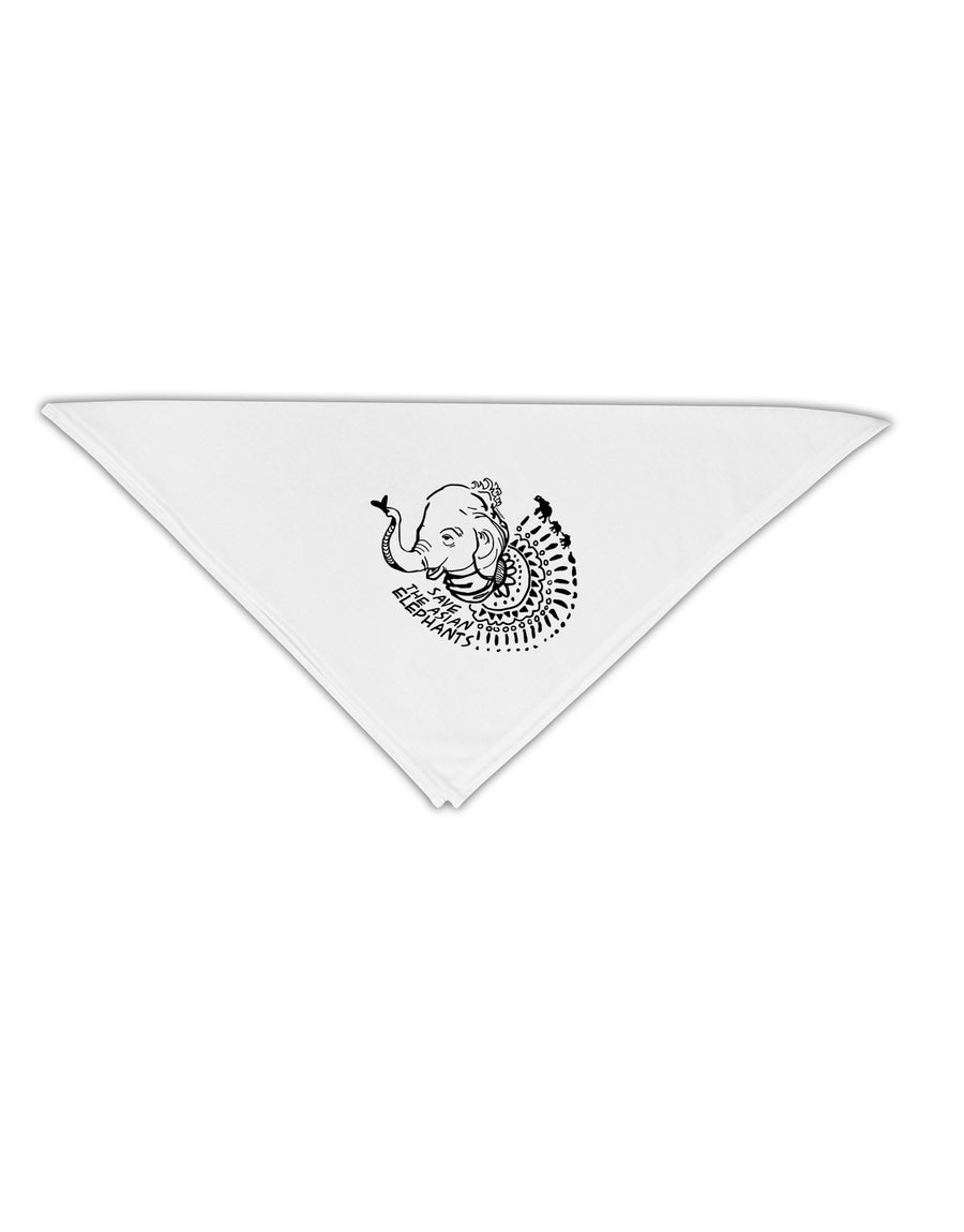 "Save the Asian Elephants Adult 19"" Square Bandana Tooloud"