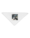 "TooLoud White Wolf Face Adult 19"" Square Bandana"