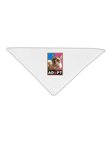 "Adopt Cute Kitty Poster Adult 19"" Square Bandana"