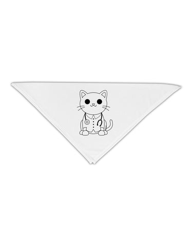 "Cat Doctor Coloring Book Style Adult 19"" Square Bandana Tooloud"