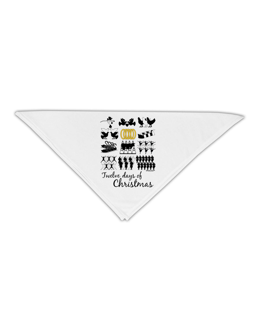 "12 Days of Christmas Text Color Adult 19"" Square Bandana"
