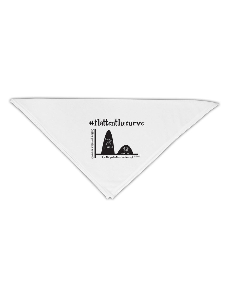 Flatten the Curve Graph Adult 19 Inch Square Bandana Tooloud