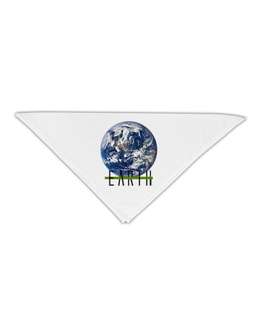 "Planet Earth Text Adult 19"" Square Bandana"