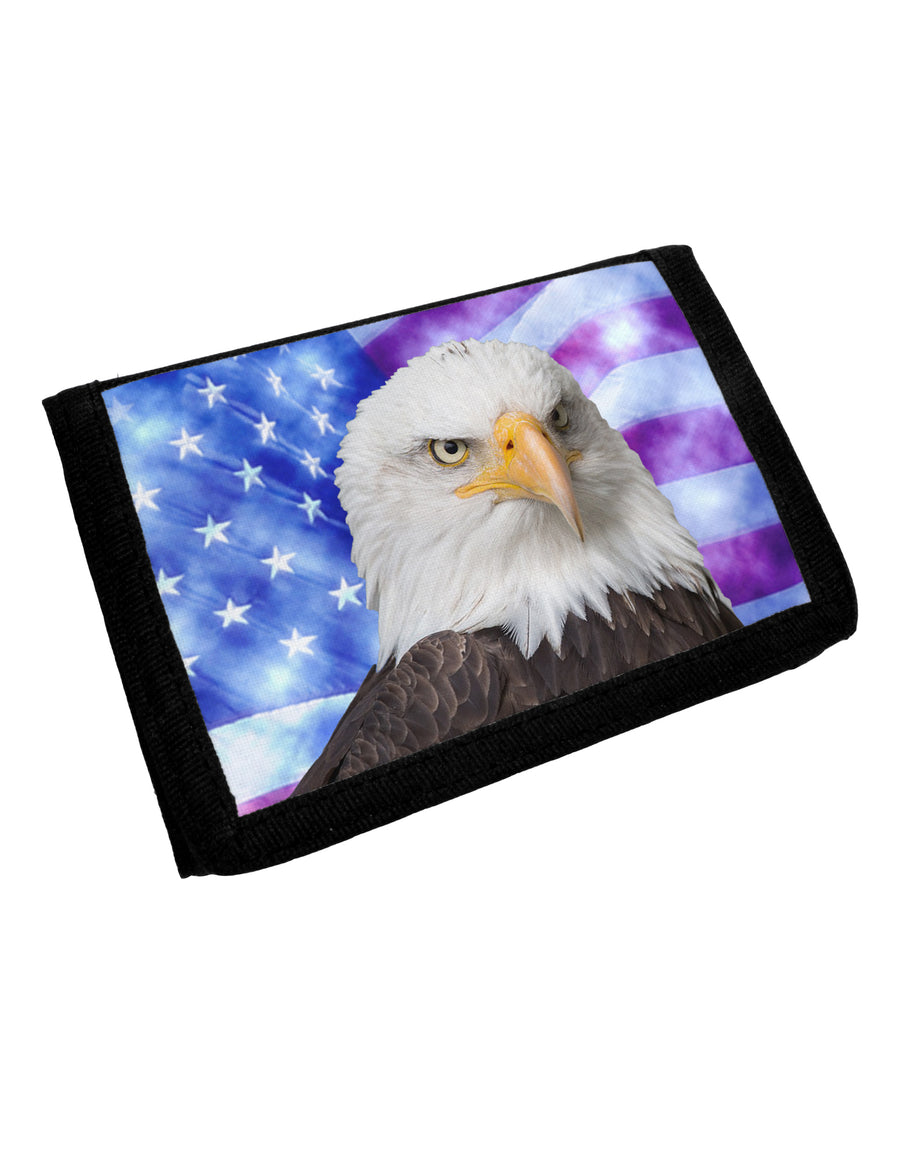 All American Eagle All Over Trifold Wallet All Over Print by TooLoud