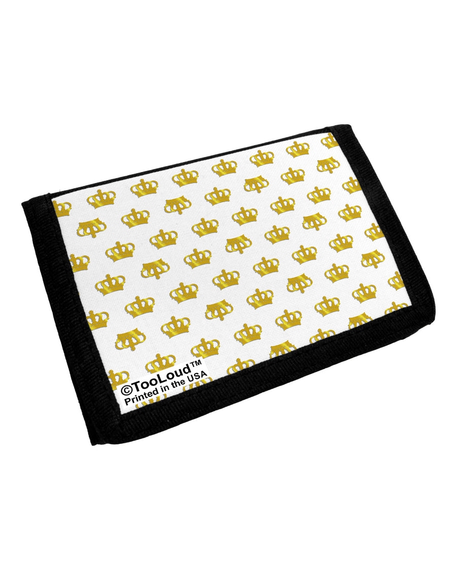 Gold Crowns AOP Trifold Wallet All Over Print by TooLoud