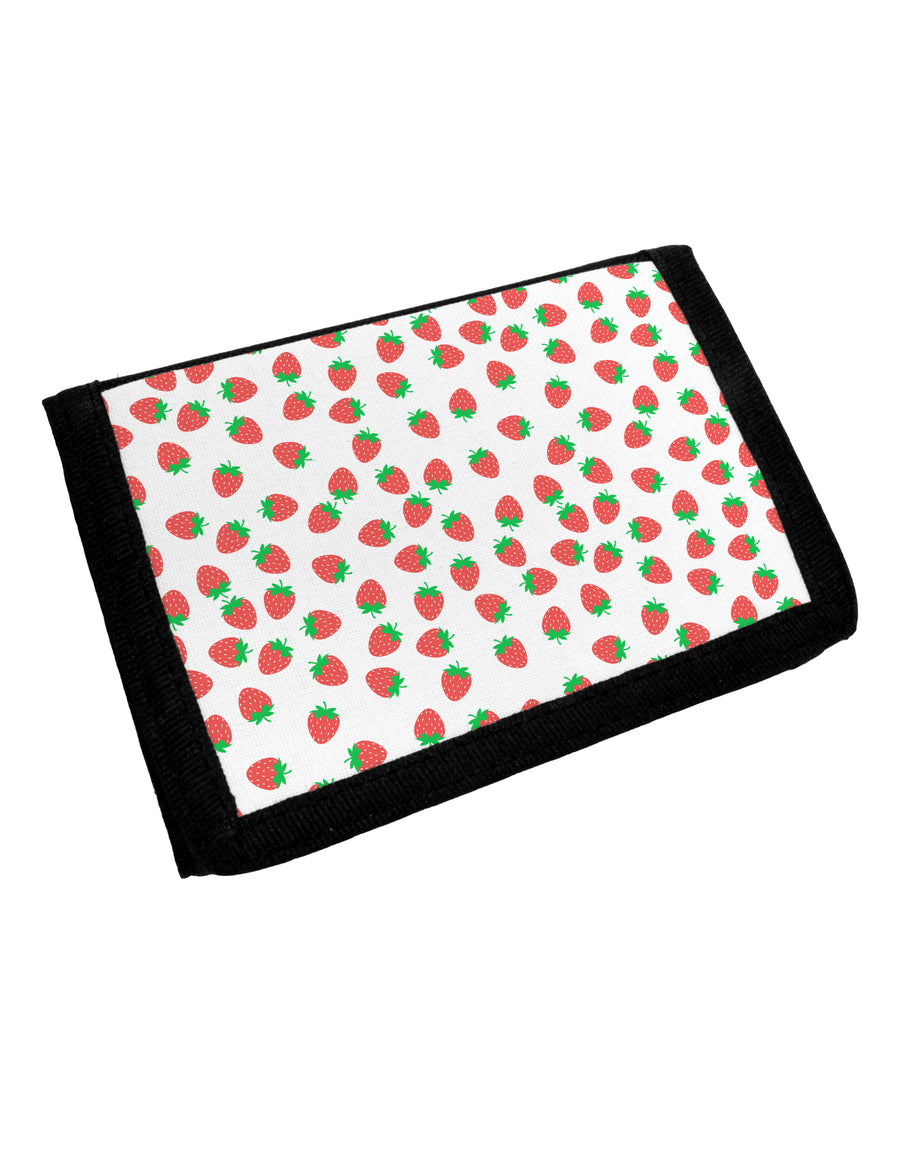 Strawberries Everywhere Trifold Wallet by TooLoud