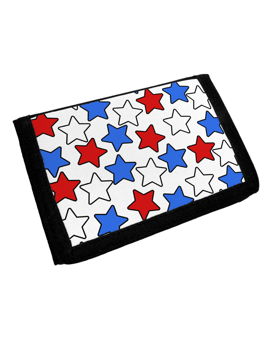 Red White And Blue Stars Trifold Wallet by TooLoud