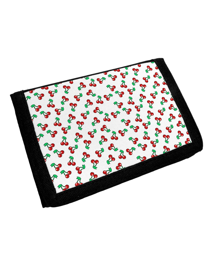 Cherries Everywhere Trifold Wallet by TooLoud