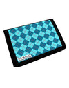 Blue Argyle AOP Trifold Wallet All Over Print by TooLoud