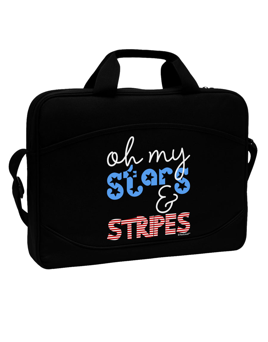 "Oh My Stars and Stripes - Patriotic Design 15"" Dark Laptop / Tablet Case Bag by TooLoud"