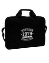 "40th Birthday Vintage Birth Year 1979 15"" Dark Laptop / Tablet Case Bag by TooLoud"