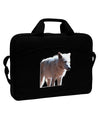 "Magnificent Full White Wolf 15"" Dark Laptop / Tablet Case Bag"