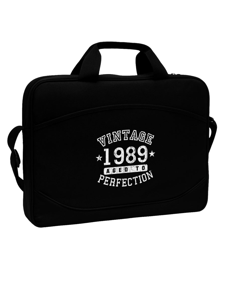 "30th Birthday Vintage Birth Year 1989 15"" Dark Laptop / Tablet Case Bag by TooLoud"