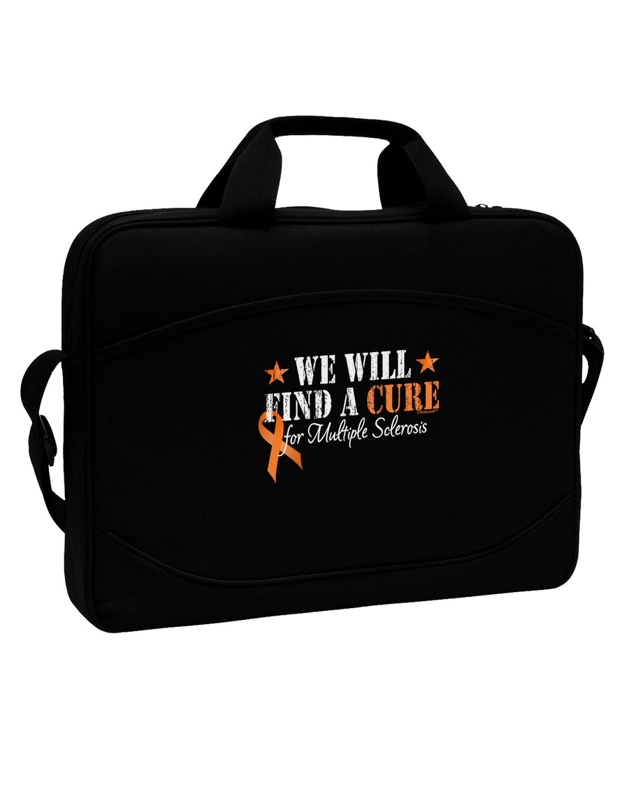 "MS - We Will Find A Cure 15"" Dark Laptop / Tablet Case Bag"