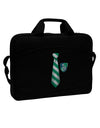"Wizard Tie Green and Silver 15"" Dark Laptop / Tablet Case Bag by TooLoud"