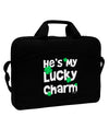 "He's My Lucky Charm - Matching Couples Design 15"" Dark Laptop / Tablet Case Bag by TooLoud"