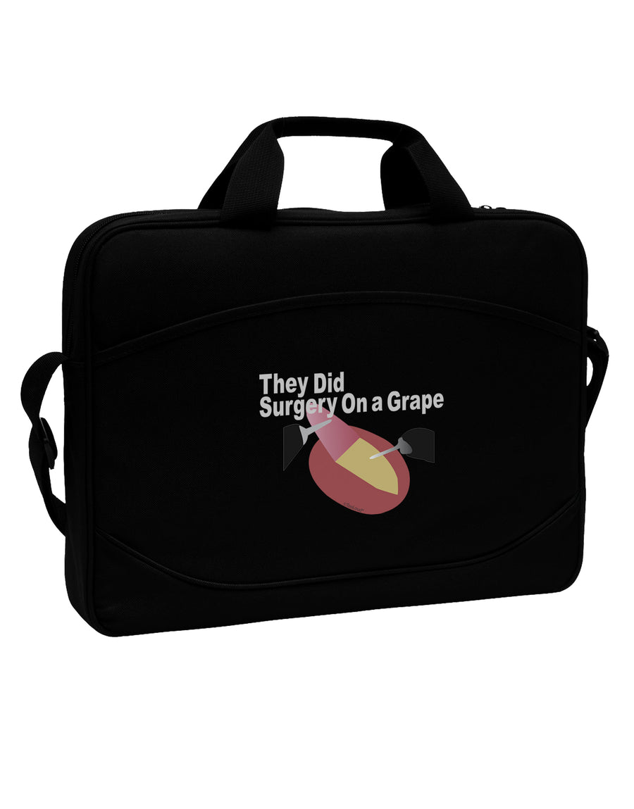 "They Did Surgery On a Grape 15"" Dark Laptop / Tablet Case Bag by TooLoud"
