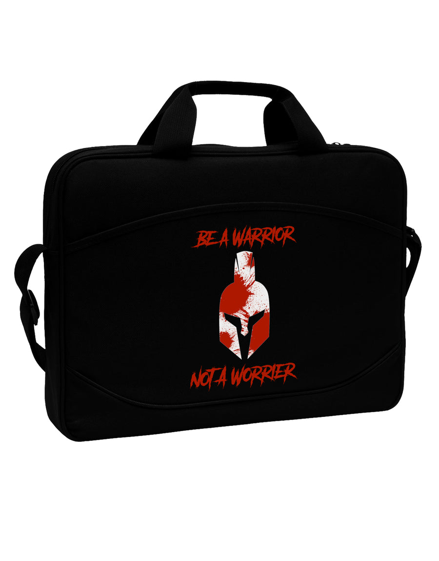 "Be a Warrior Not a Worrier 15"" Dark Laptop / Tablet Case Bag by TooLoud"