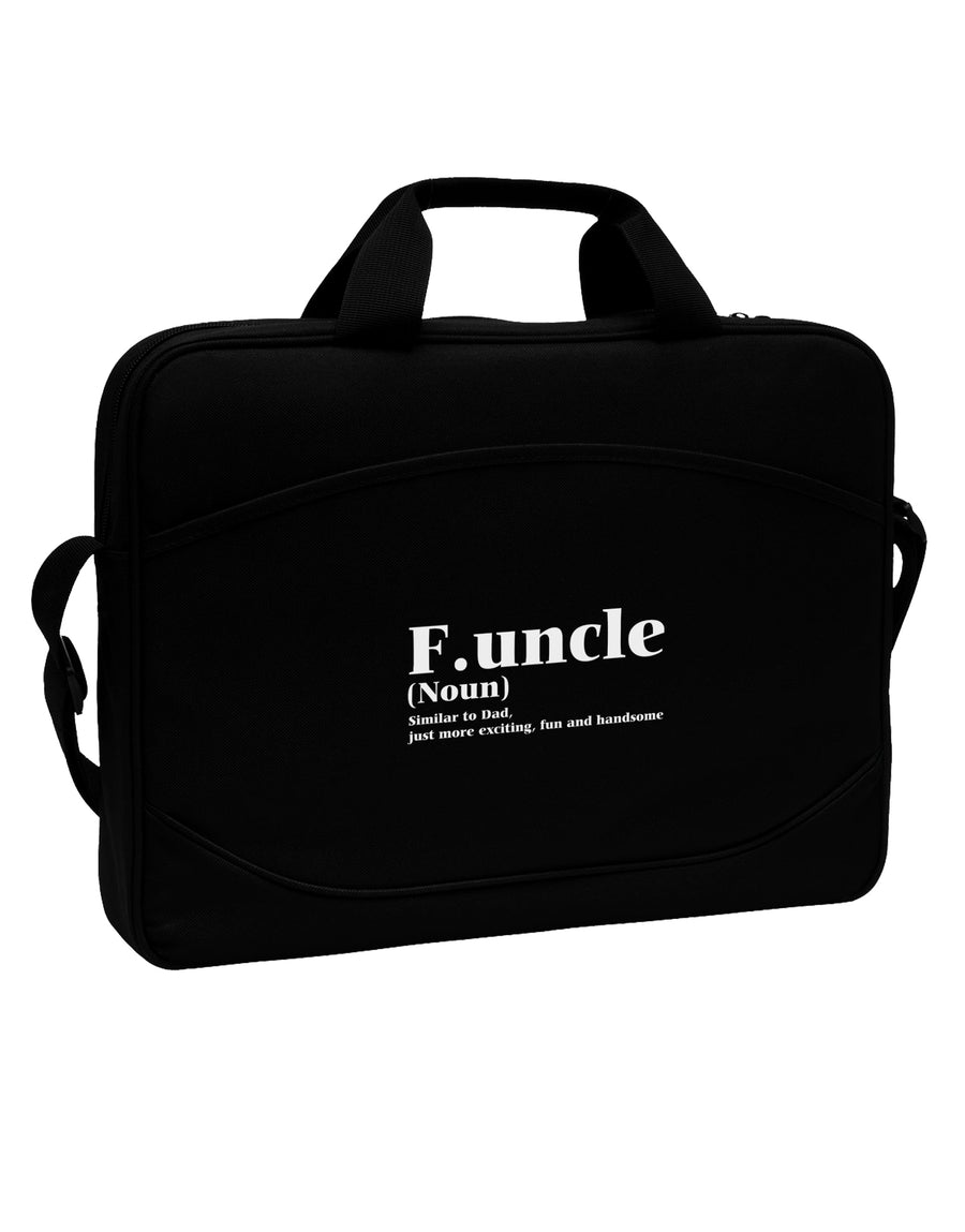 "Funcle - Fun Uncle 15"" Dark Laptop / Tablet Case Bag by TooLoud"