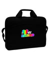 "I Heart My Girlfriend - Rainbow 15"" Dark Laptop / Tablet Case Bag"