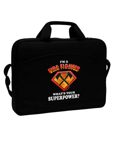 "Fire Fighter - Superpower 15"" Dark Laptop / Tablet Case Bag"