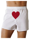 Big Red Heart Valentine's Day Front Print Boxer Shorts