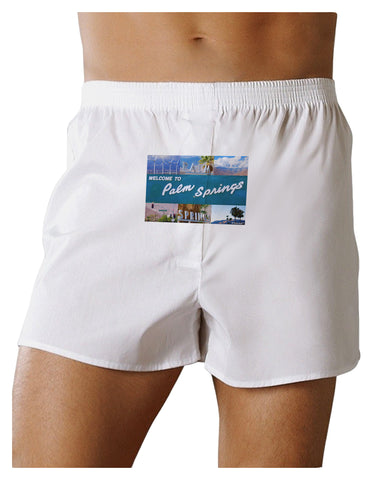 TooLoud Welcome to Palm Springs Collage Front Print Boxers Shorts