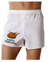 Happy Thanksgiving Boxers Shorts White 2XL Tooloud